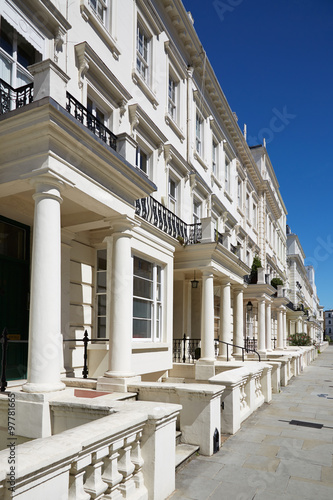 White luxury houses facades in London Canvas Print