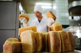 baking bread in the grain plant