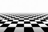 Checkered Background In Perspective - 97810406