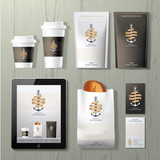 Fototapety The anchors coffee shop corporate identity template design set