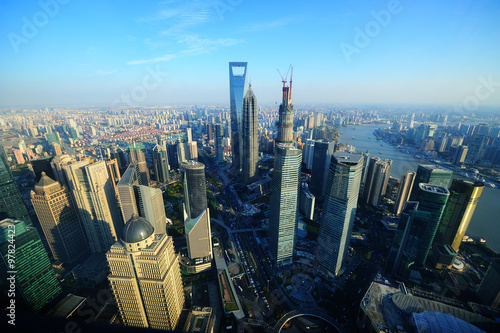 Poster Aerial view of Shanghai