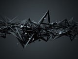 Fototapety Abstract 3D Rendering of Chaotic Structure.
