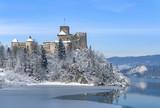 Fototapety Medieval Castle in Niedzica, Poland, in winter