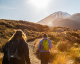Fototapety Tongariro crossing New Zealand unesco site national park