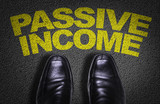 Top View of Business Shoes on the floor with the text: Passive Income