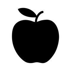 Delicious apple flat icon for apps and websites