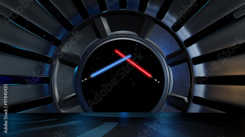 Lightsaber in space environment, ready for comp of your characte