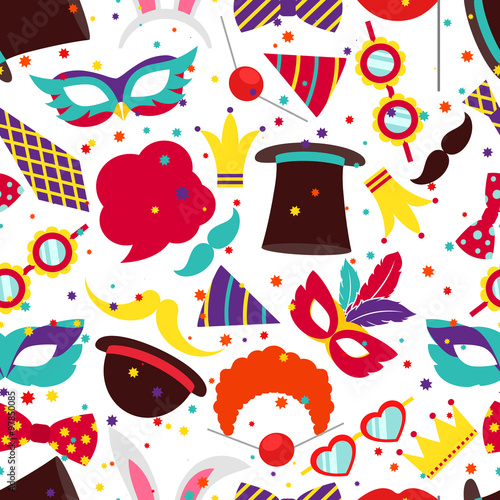 Cotton fabric Party background or carnival pattern