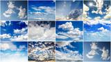 Himmel: Collage aus Wolkenbildern :)