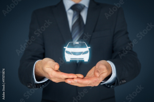 Poster Car insurance and car services