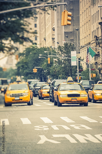 Staande foto New York TAXI Cabs in NY