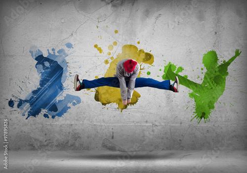Plakat Hip hop dancer