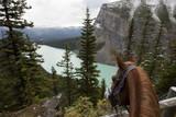 Fototapety horseback riding through Lake Louise Banff