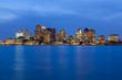 Skyline of Boston at twilight, Boston, Massachusetts, USA