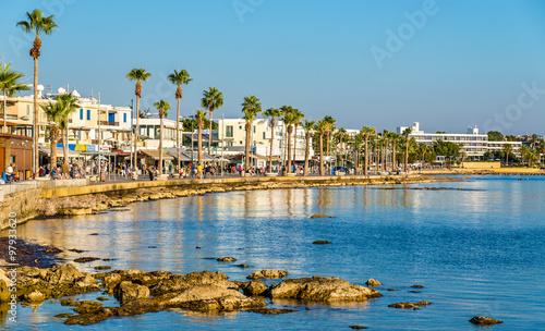 Papiers peints Chypre View of embankment at Paphos Harbour - Cyprus