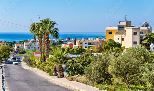 Foto op Aluminium Cyprus Road to the sea in Paphos - Cyprus