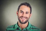 Fototapety Headshot smiling modern man, creative professional