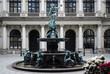 Leinwanddruck Bild - Hygieia-Brunnen, Rathaus Hamburg