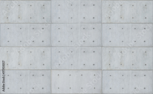 Poster Betonbehang bare cast in place gray concrete wall texture background