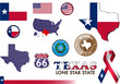 Texas Icon Set. 