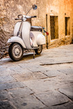Italian Scooter in Grungy Alley, Vintage Mood