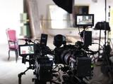 Professional digital video camera. accessories for 4k video cameras - 97996852
