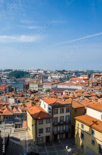 Foto op Aluminium New York View of Porto city on summer day