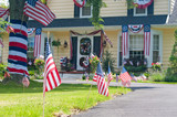 The town of Riverton, New Jersey Celebrate Independence Day. Small town 4th of July  - 98053268