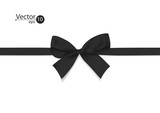 Ribbon with black bow.