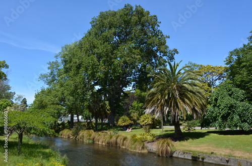 Landscape of the avon river christchurch new zealand for Landscaping christchurch