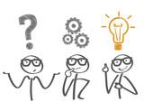 Problemlösung - 3 Phasen - Fragestellung  - überlegen - Idee