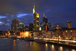Panoramic view of Frankfurt am Main. Germany