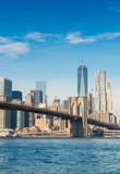 Fototapety Brooklyn Bridge in New York on a sunny day