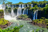 Fototapety Iguazu falls view from Argentina