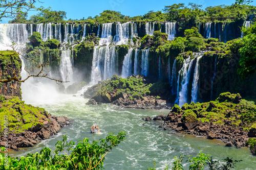 fototapeta na ścianę Iguazu falls view from Argentina