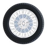 Nice old retro wheel with spokes for old car bugatti - Master vector flatten illustration - Component for web icon, commercial symbol.