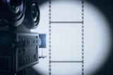 Fototapety Vintage movie camera making a film