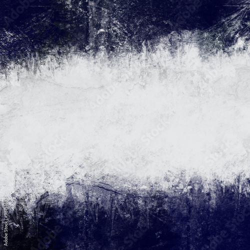 Abstract painted background in dark blue and white with empty space for text - 98151693