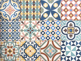 colorful, decorative tile pattern patchwork design - 98153871