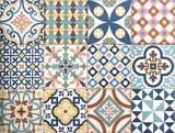 colorful, decorative tile pattern patchwork design - 98153871