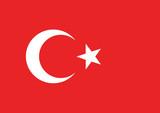 Vector of Turkish flag.