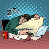 Fototapety Worker dream workplace fatigue processing