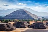 Fototapety Panorama of Teotihuacan Pyramids