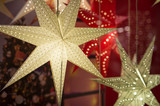 Traditional Christmas decorations in Sweden. Christmas stars are a common sight in almost every window in Sweden beginning four weeks before Christmas.