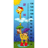 giraffe height measure(in original proportions 1:4) - vector illustration, eps