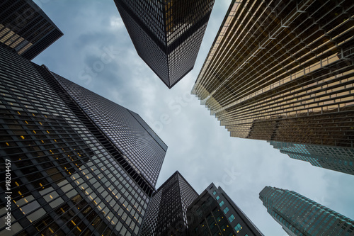 Poster Canadian Toronto city amazing skyscrapers perspective
