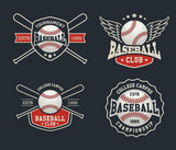 Baseball badge logo design suitable for logos, badge, banner, emblem, label, insignia and T-shirt design - 98221446