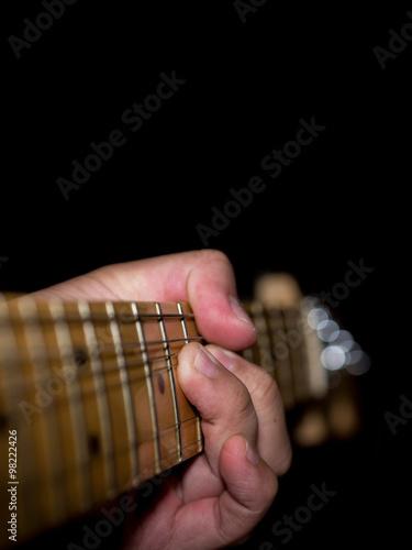 Poster Guitar Neck String Bend