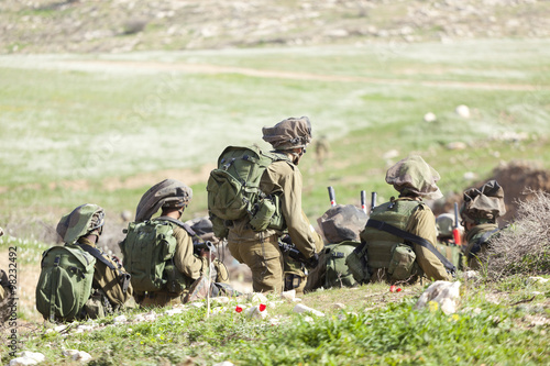 Poster Israeli soldier training