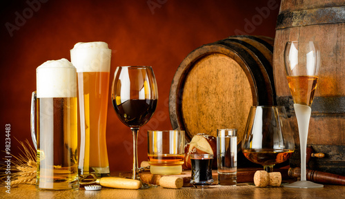 Fototapeta alcoholic drinks